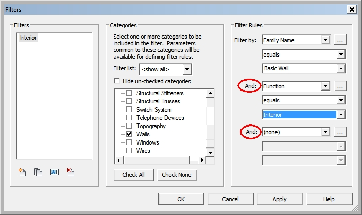 Filters in Visibility Overrides