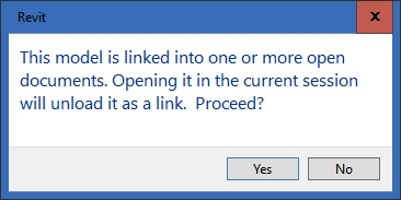7.1 Opening linked file message